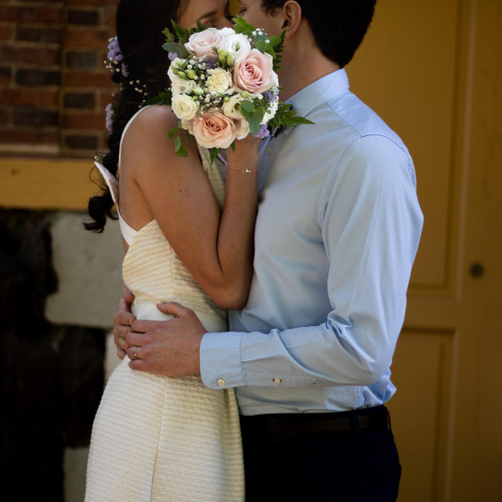 photo couple amour mariage portrait fleurs