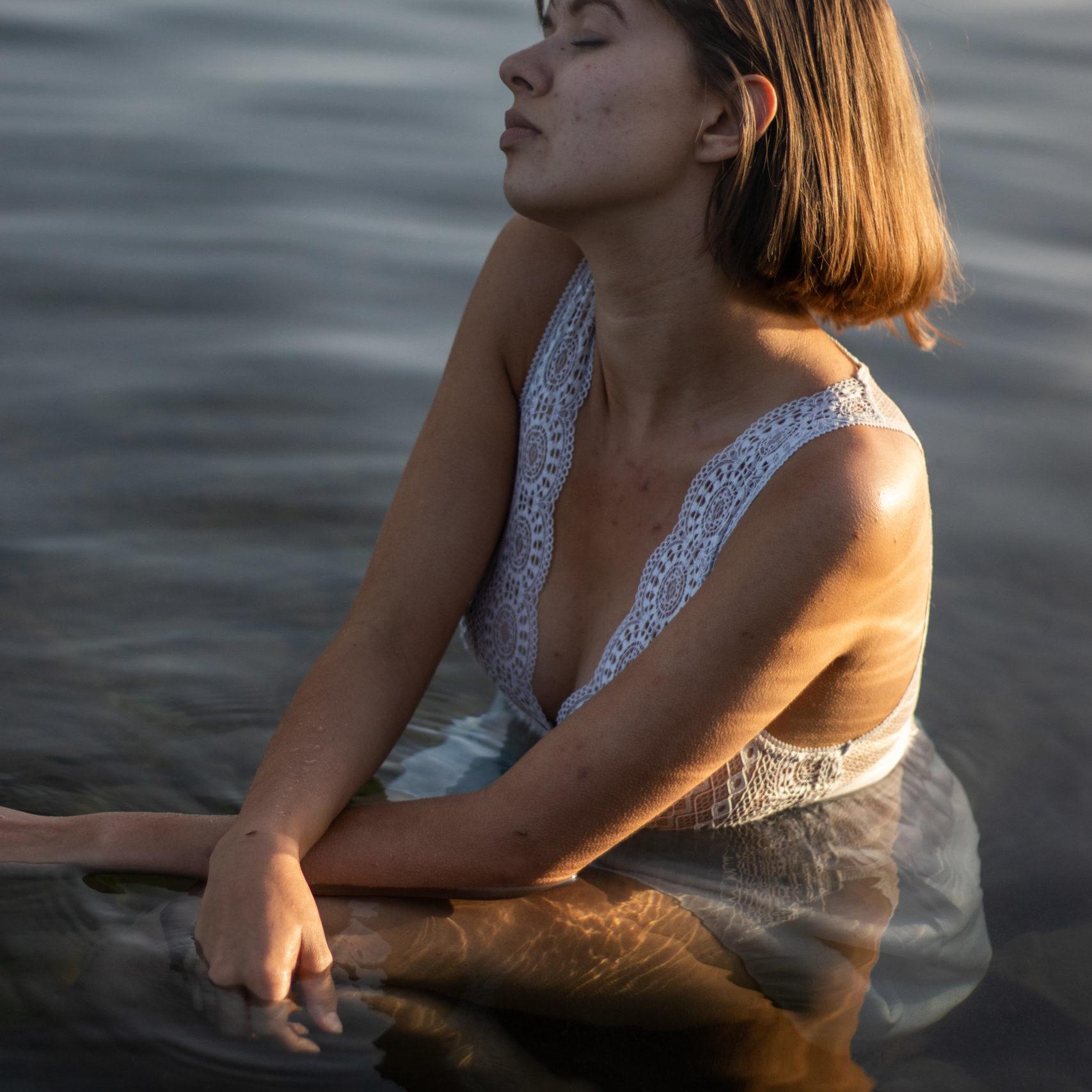 photo portrait femme eau
