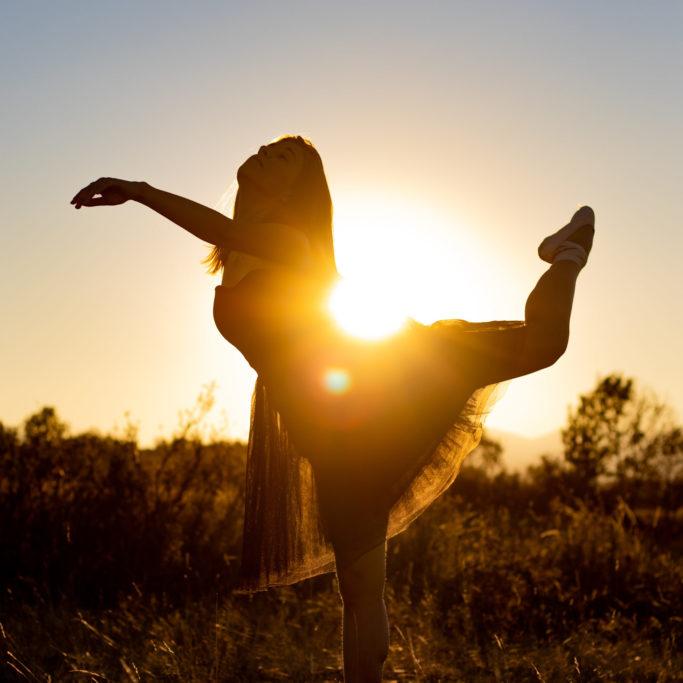 photo portrait femme dance soleil