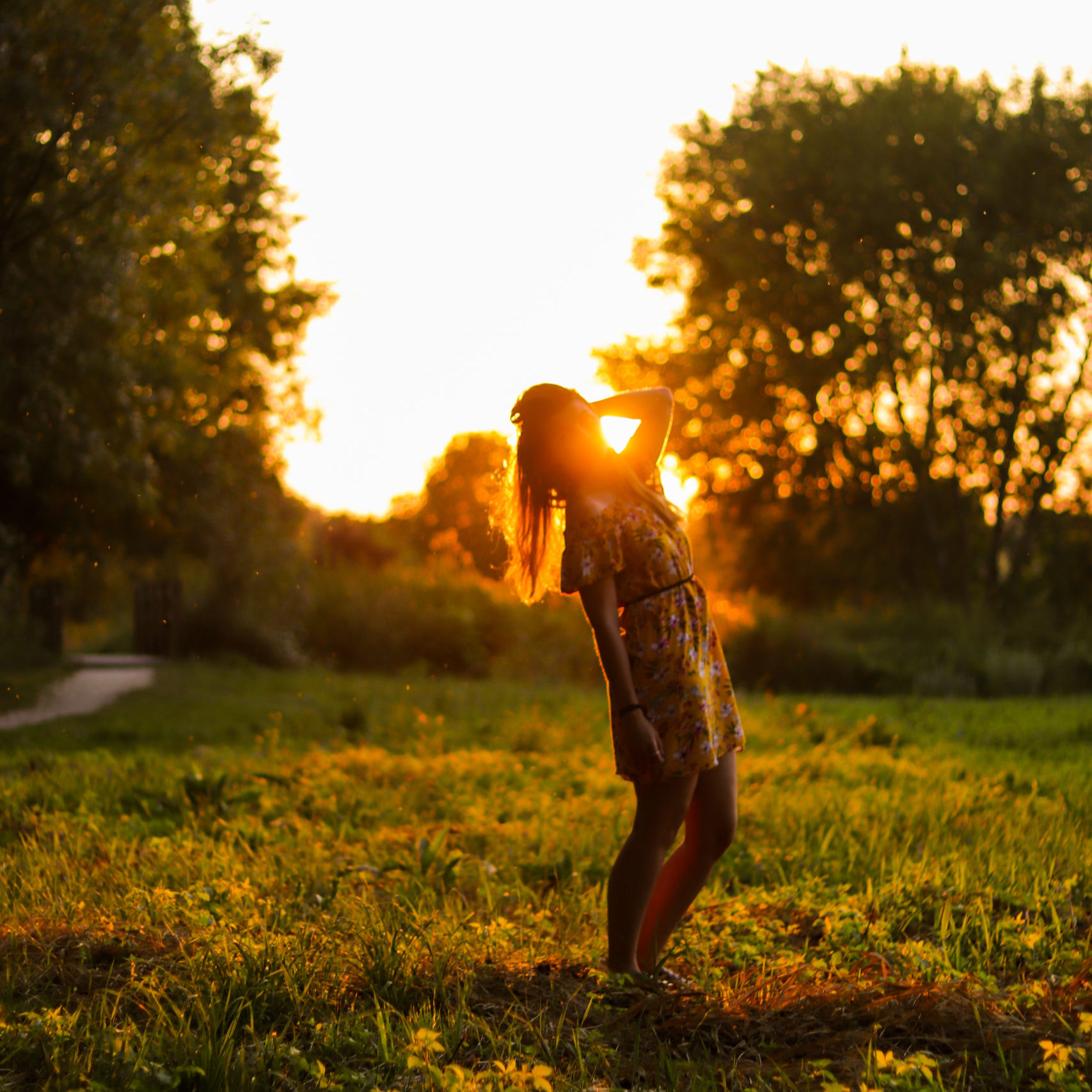 photo portrait femme soleil